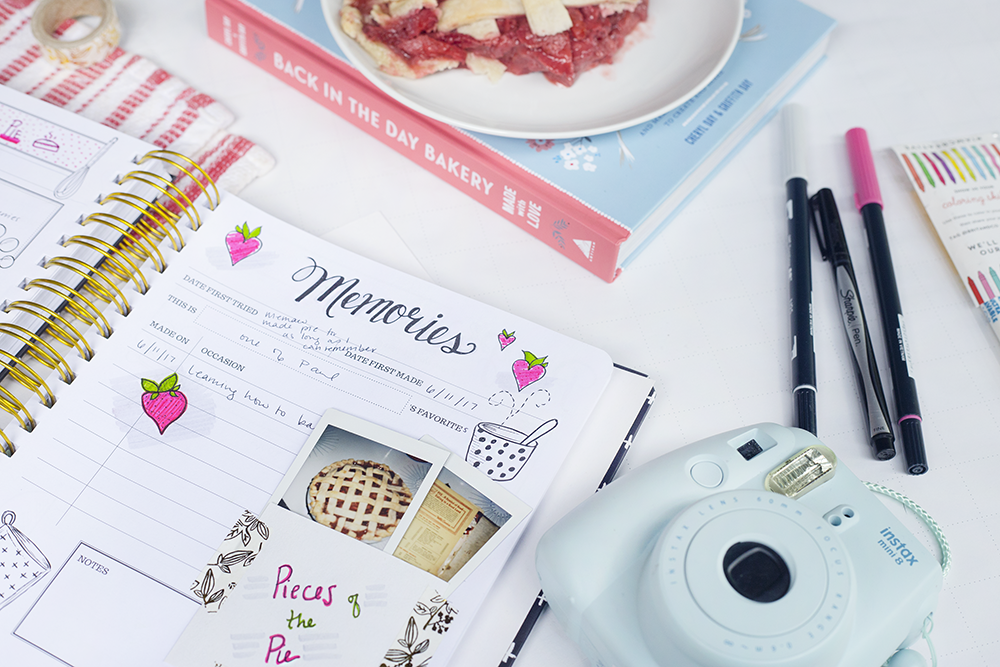 keepsake kitchen diary | pie recipe | scrapbooking