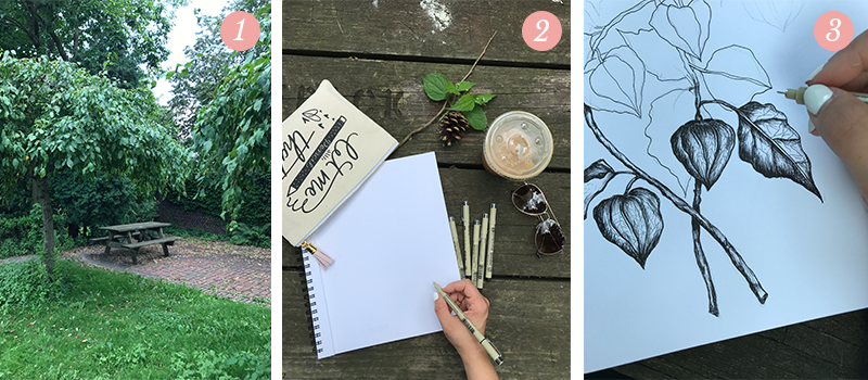 Lily & Val Presents: Pretty Ordinary Friday #61 with inspirational park benches, all the tools needed for drawing, and a sneak peek at a new illustration