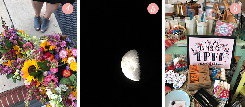 Lily & Val Presents: Pretty Ordinary Friday #59: Flagship store weekend flowers, gorgeous telescope moon, Wild & Free print in-store!