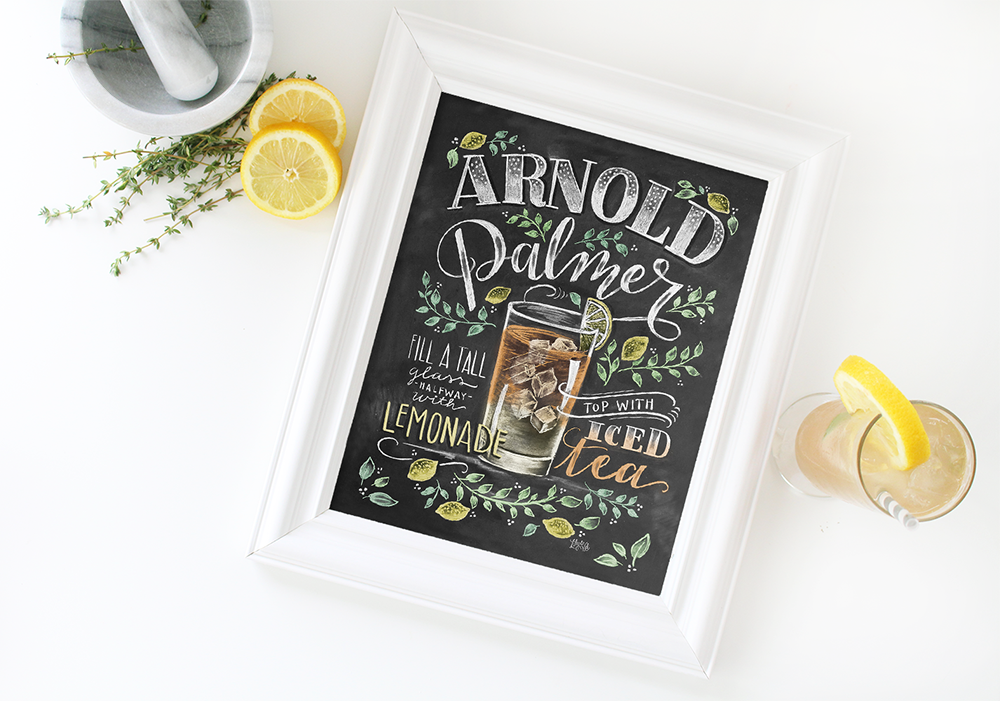 A class Arnold Palmer- what could be better in the summer? Display this chalk illustrated print to remind you to savor the seaons