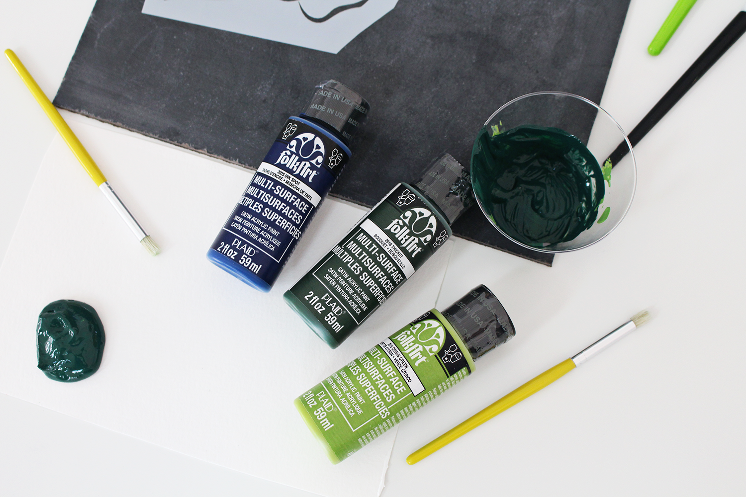 Folk Art makes the most beautiful paints for stenciling