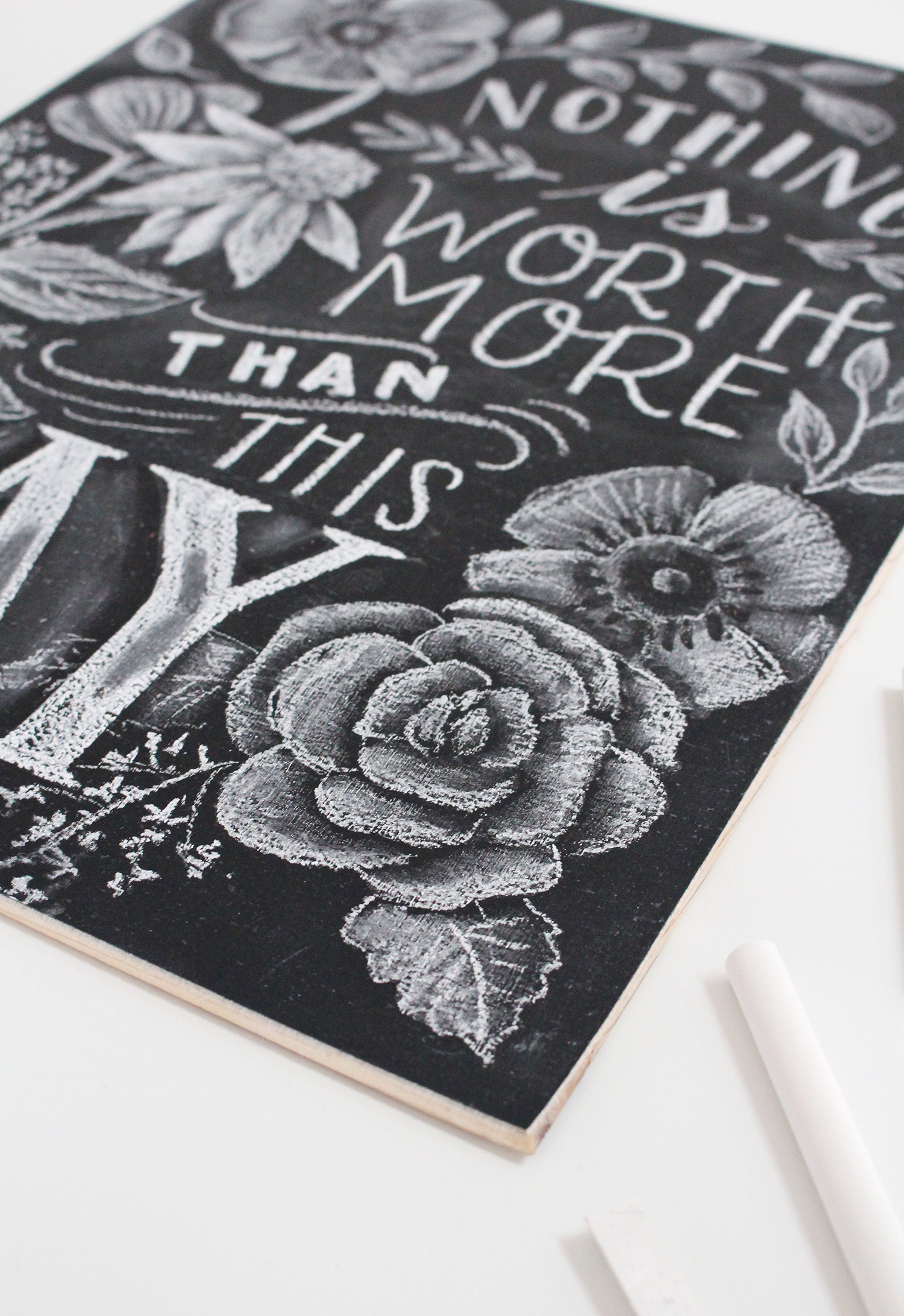 Introducing Chalk Project Nights at the Lily & Val Flagship Store in Pittsburgh. Valerie Mckeehan will teach you all the steps for creating this chalkboard sign!