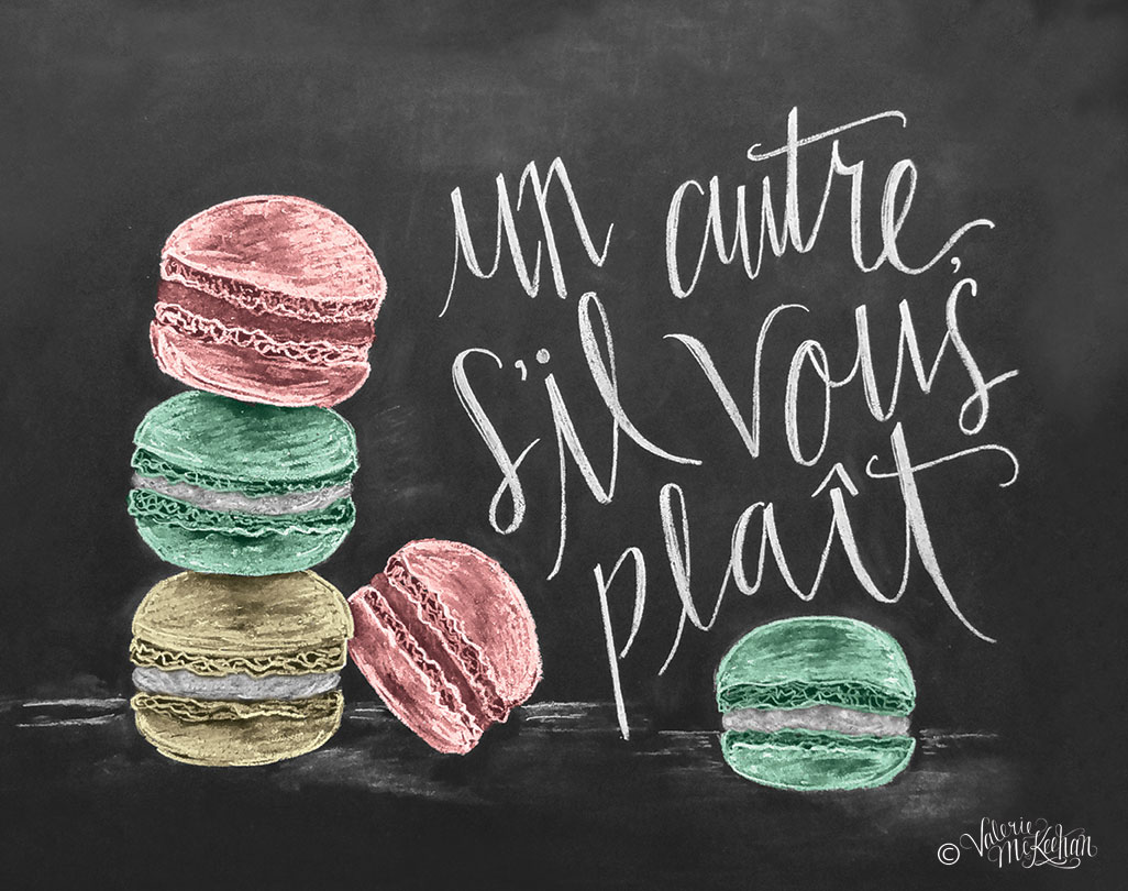 French Macaron Print by Lily & Val