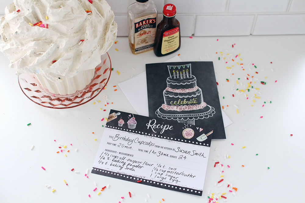 August Happy Mail Idea using Lily & Val Chalk Art Cards & Loose Recipe Cards - Cards & Cake