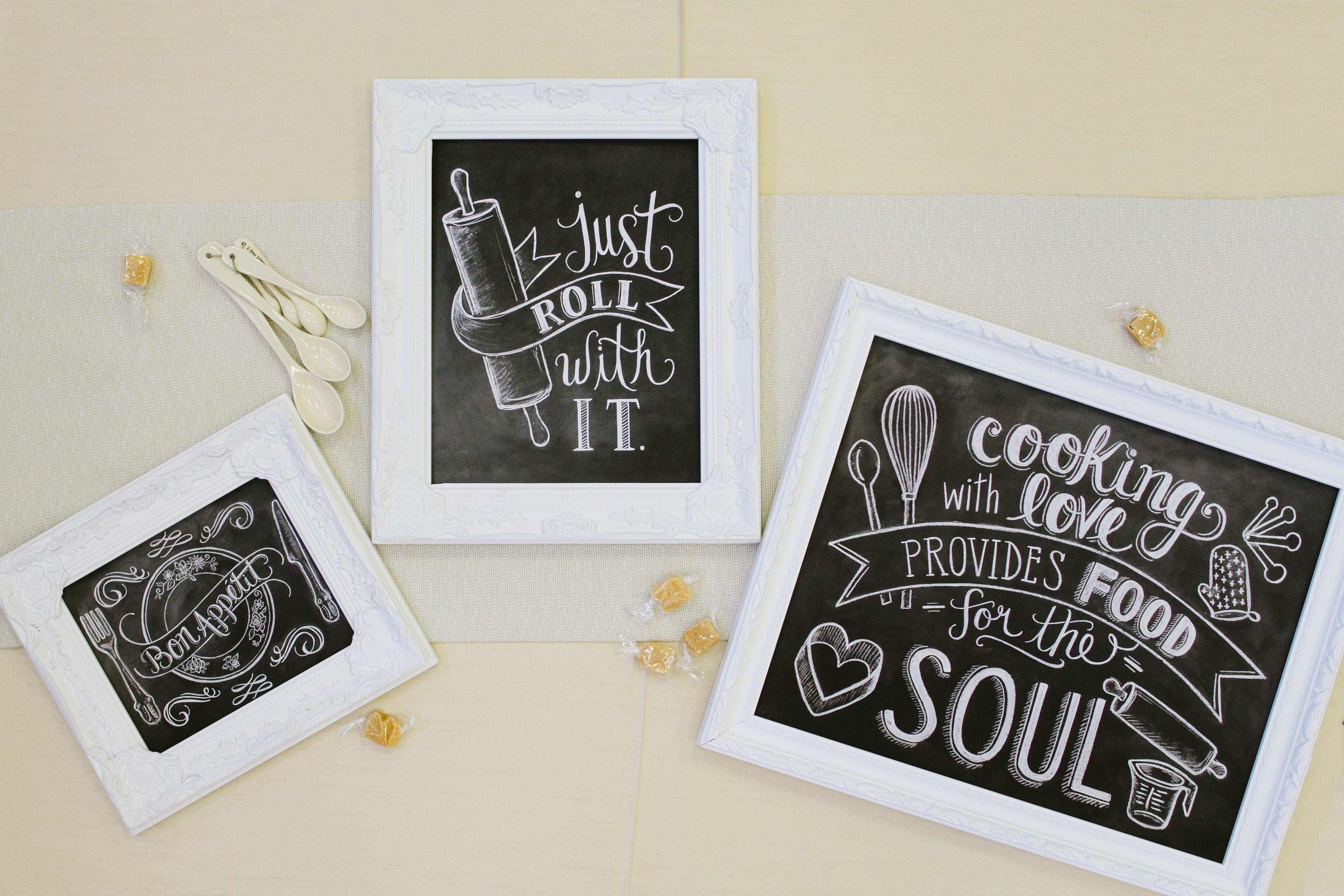 Cooking prints by Lily & Val. Cooking with love provides food for the soul.