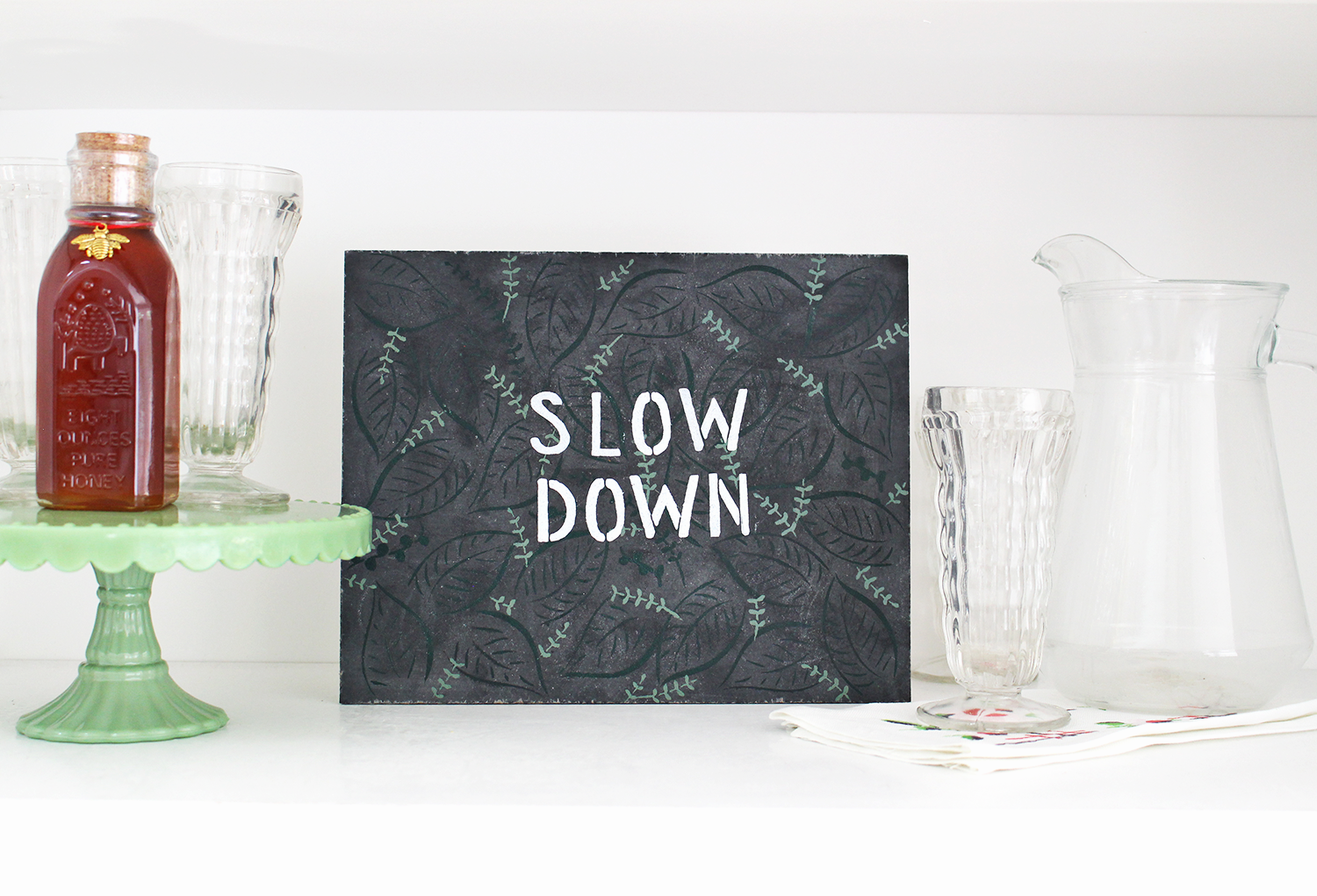 How to Use Lily & Val Stencils to Create This Modern Chalkboard Sign