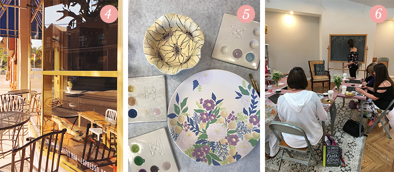 Lily & Val Presents: Pretty Ordinary Friday #64 with quaint cafes, Color Me Mine artwork and Chalk Project Nights