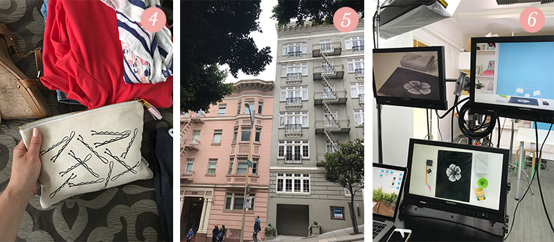 Lily & Val Presents: Pretty Ordinary Friday #65 with Lily & Val pouches, San Francisco buildings and Brit & Co. chalk illustration classes