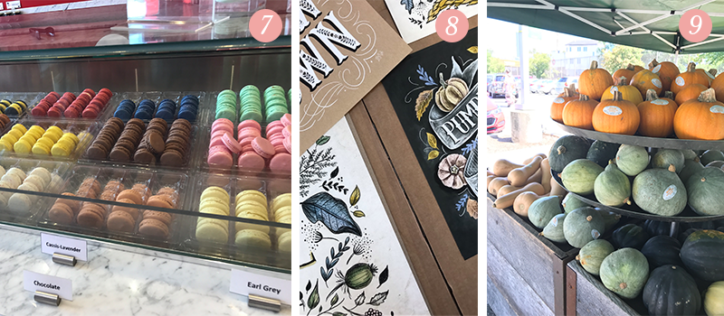 Lily & Val Presents: Pretty Ordinary Friday #64 with tasty macaroons, sneak peek at the fall line and pumpkins at Whole Foods