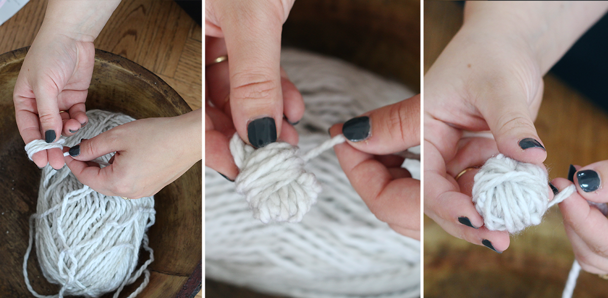 steps to create a DIY yarn wall hanging