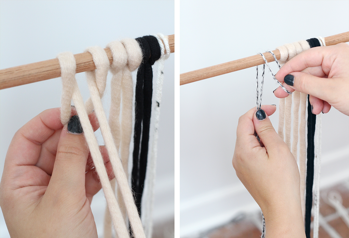 make a simple DIY wall hanging