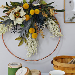 Fall Faux Floral Wreath Workshop at the Lily & Val Flagship Store