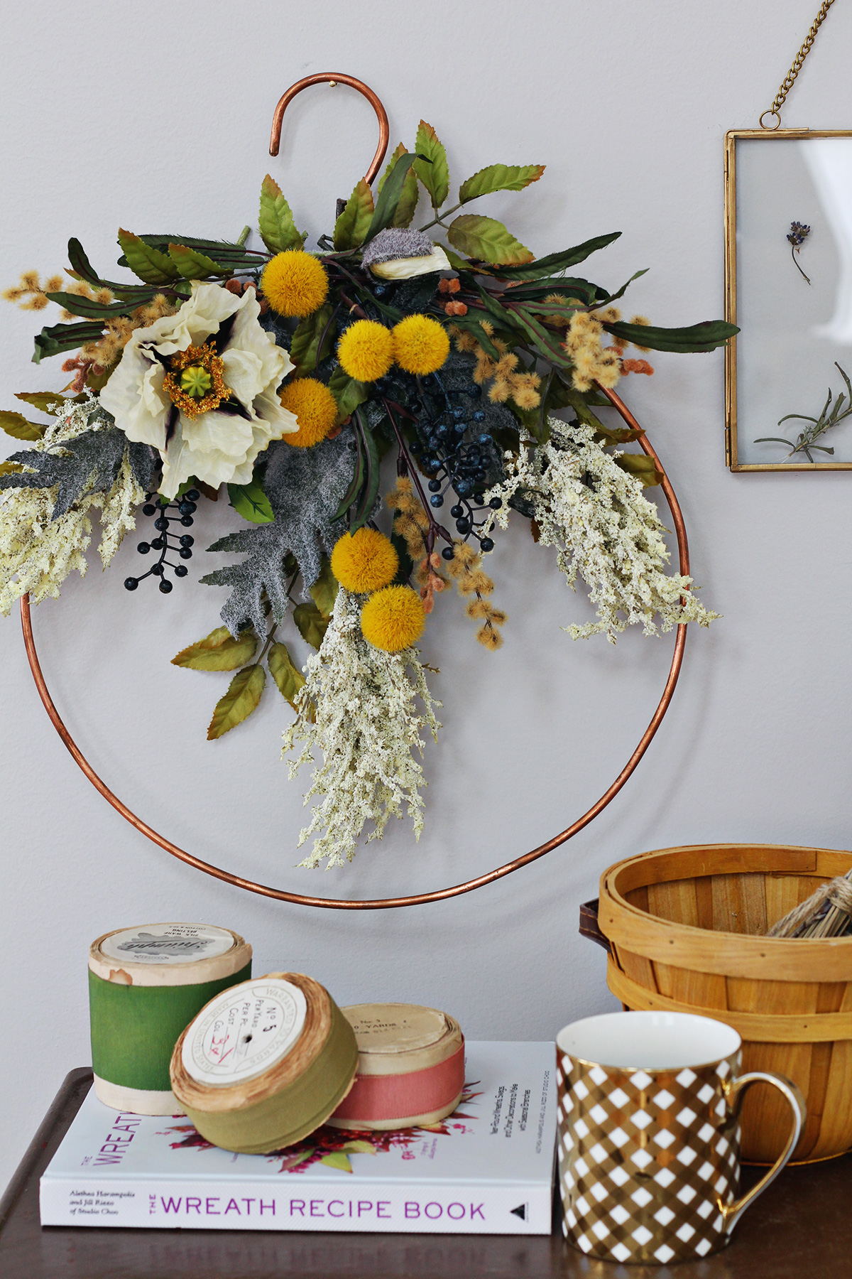 Fall Faux Floral Wreath Workshop At The Lily Amp Val