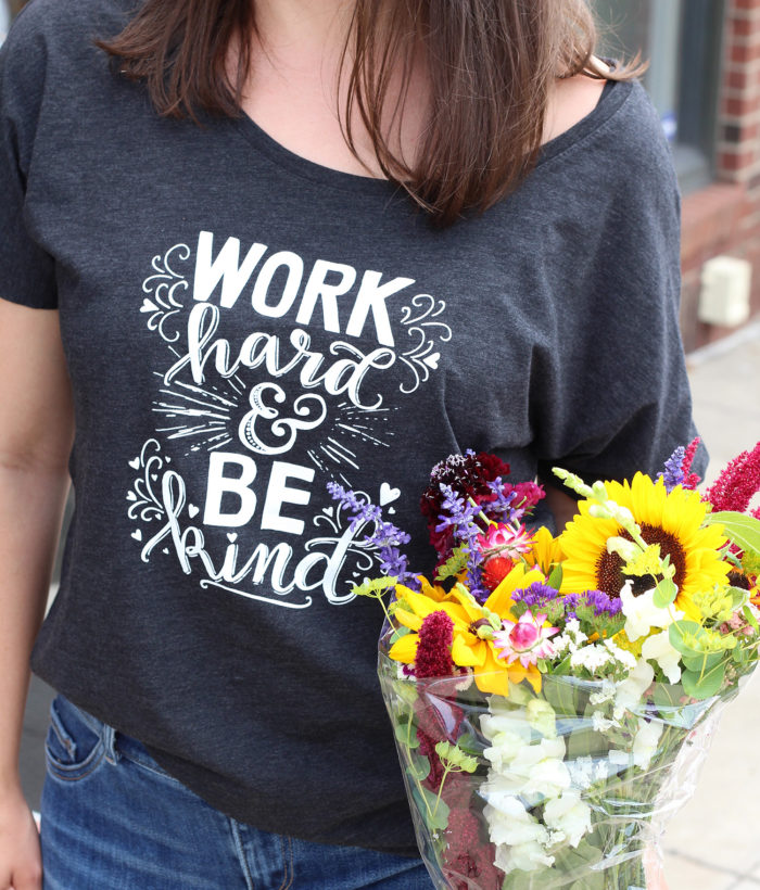 Amy Tangerine and Lily & Val Hand Lettered T-Shirt Collaboration