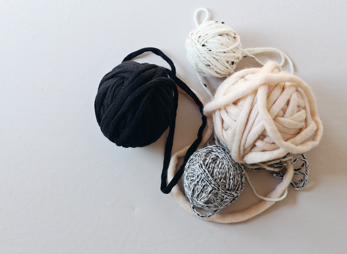 beautiful balls or yarn to create a DIY yarn wall hanging
