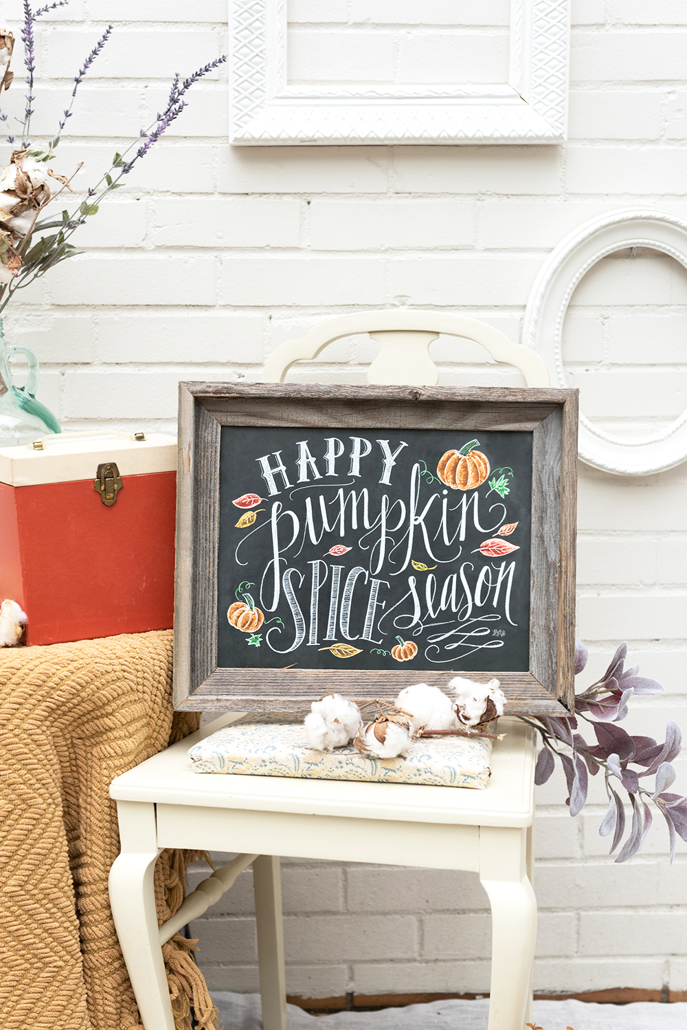 Happy Pumpkin Spice Season Fall Sign Decor