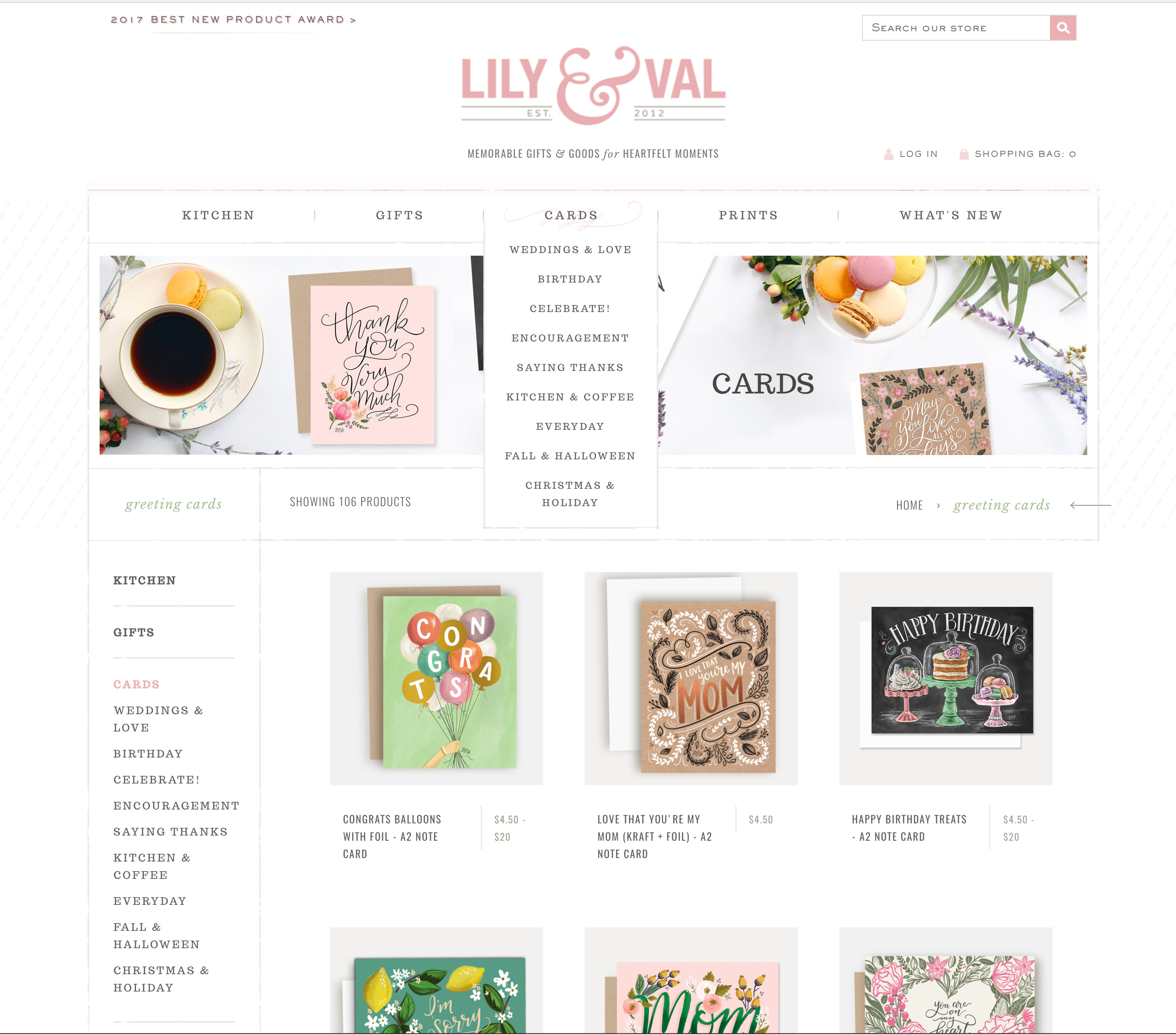 Welcome to the brand new lilyandval.com. Memorable gifts and goods for heartfelt moments