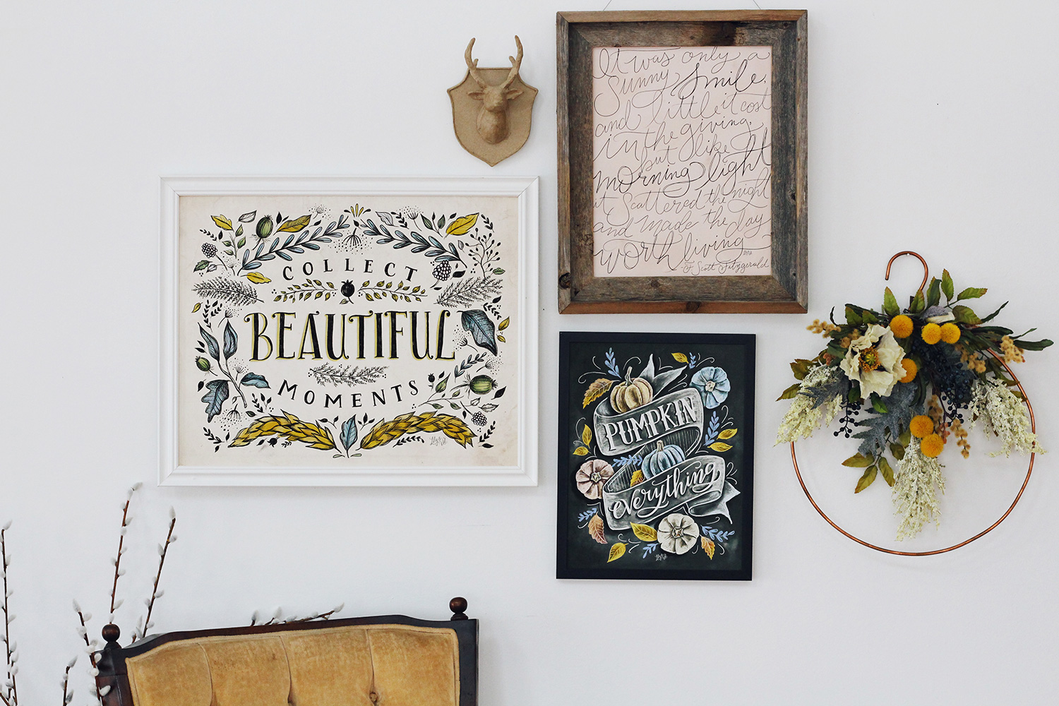Fall Gallery Wall Inspiration | 3 tips for putting together a Fall Gallery Wall