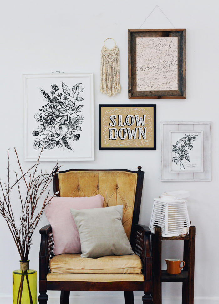 Fall Gallery Wall Inspiration & 3 Tips for Putting A Gallery Wall Together