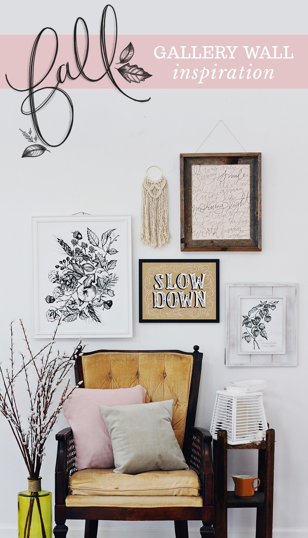 Fall Gallery wall inspiration and 3 tips for creating a fall gallery wall
