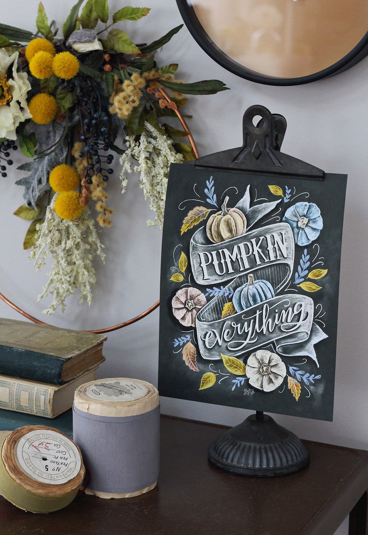 Pumpkin Everything Chalkboard Art for your Rustic Elegant Fall Decor