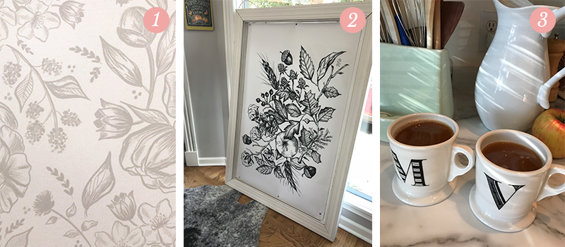 Lily & Val Presents: Pretty Ordinary Friday #70 with soft neutrals for 2018, black and white botanicals and tea for two