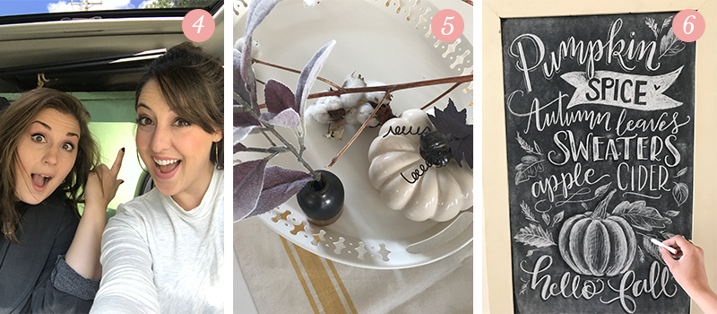 Lily & Val Presents: Pretty Ordinary Friday #68 with Sewickley Church Sale finds, new autumn decor for your home and Fall chalkboard art