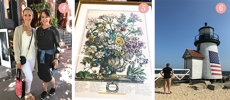 "Lily & Val Presents: Pretty Ordinary Friday #67 with Holly Nichols, ""October"" floral art, and Nantucket lighthouses"