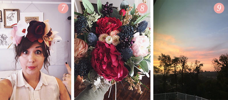 Lily & Val Presents: Pretty Ordinary Friday #70 with floral crowns, faux wedding bouquets and beautiful sunrises