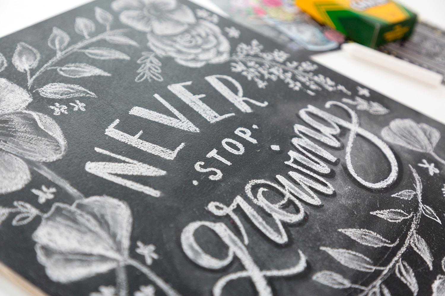 Intro to Chalk Illustration Online Class with Valerie McKeehan! Learn how to draw beautiful flowers in chalk and make a sign!