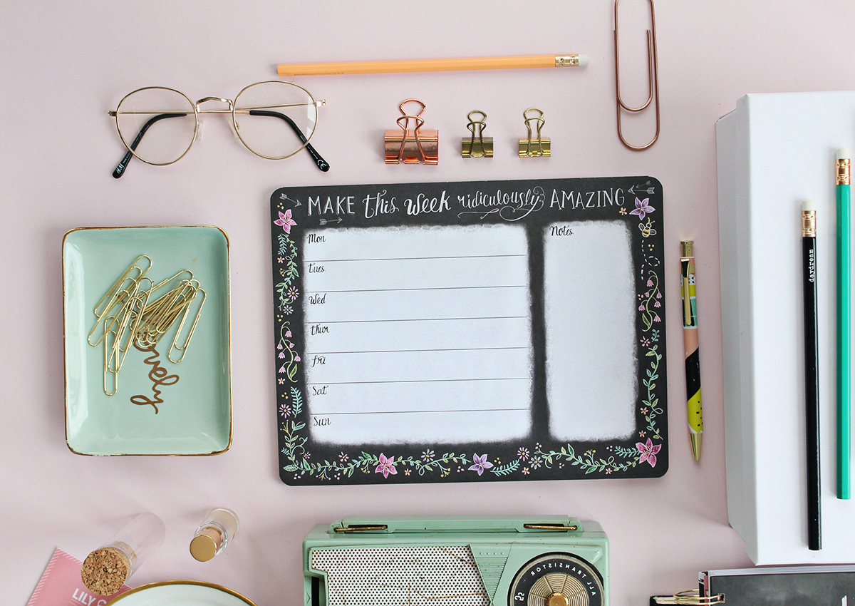 Make this week ridiculously amazing weekly planner pad by Lily & Val