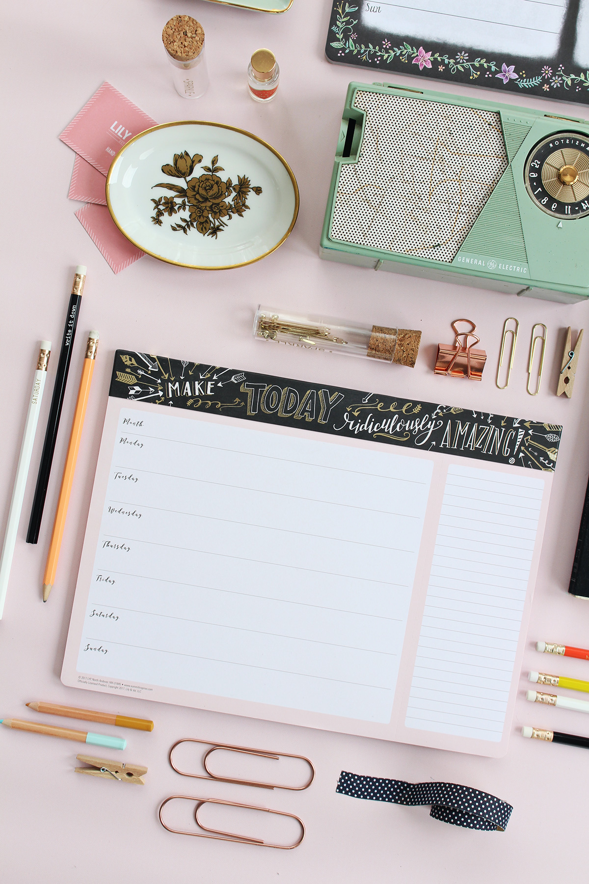 A new weekly planner pad by Lily & Val. Make today ridiculously amazing!