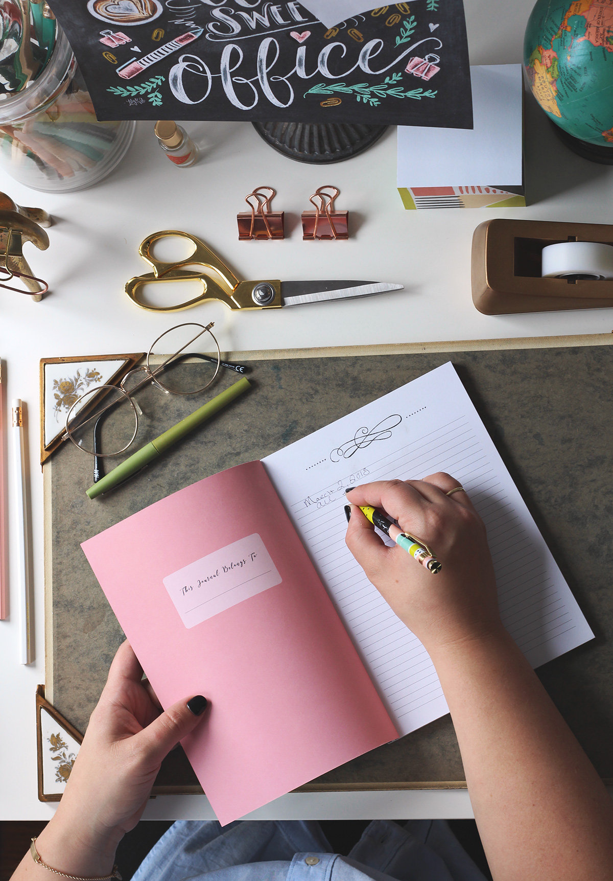 Desk accessories, journals, notebooks, and more from Lily & Val