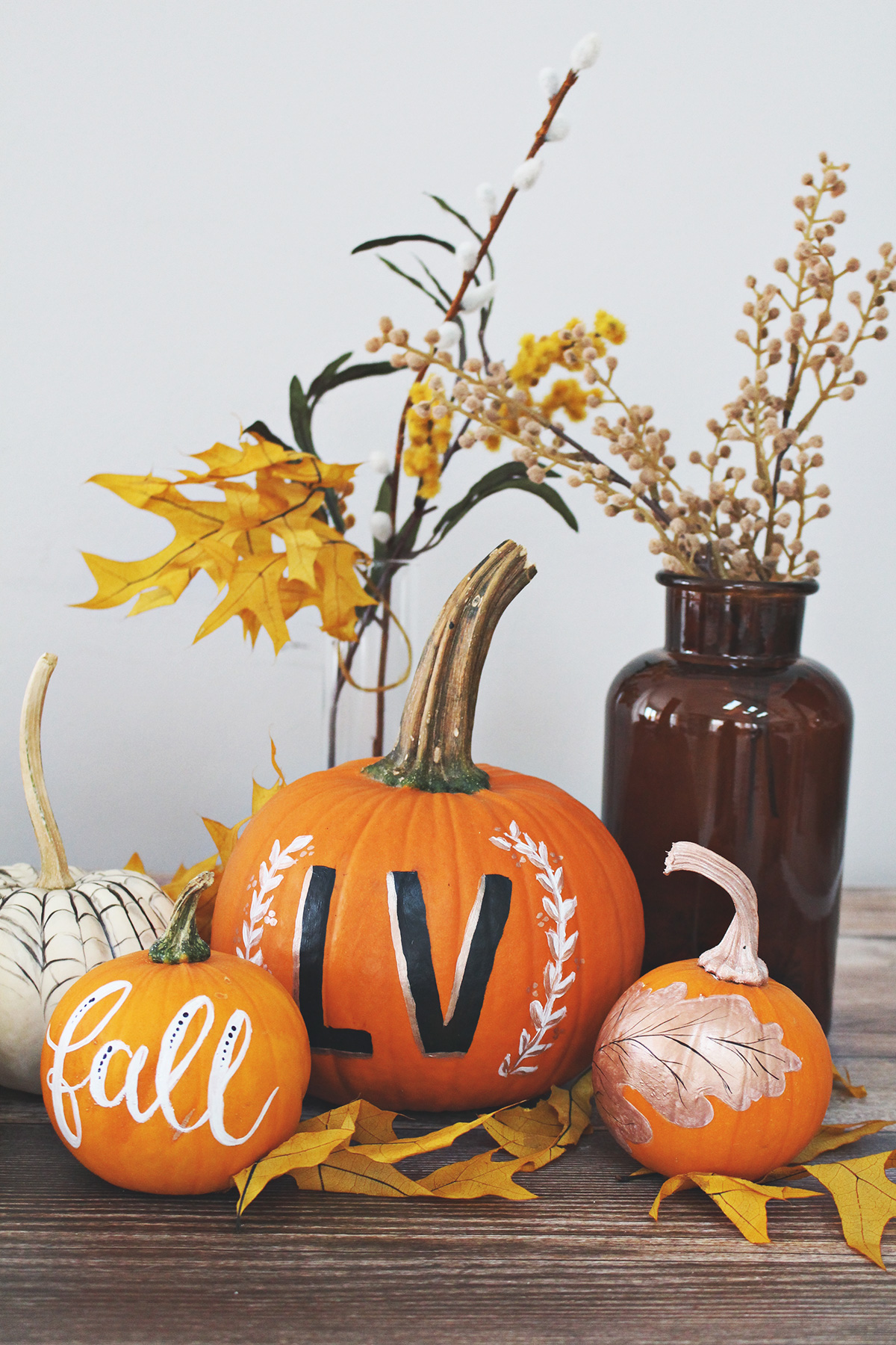 5 Creative Ideas For Painting Elegant Pumpkins Lily Val Living