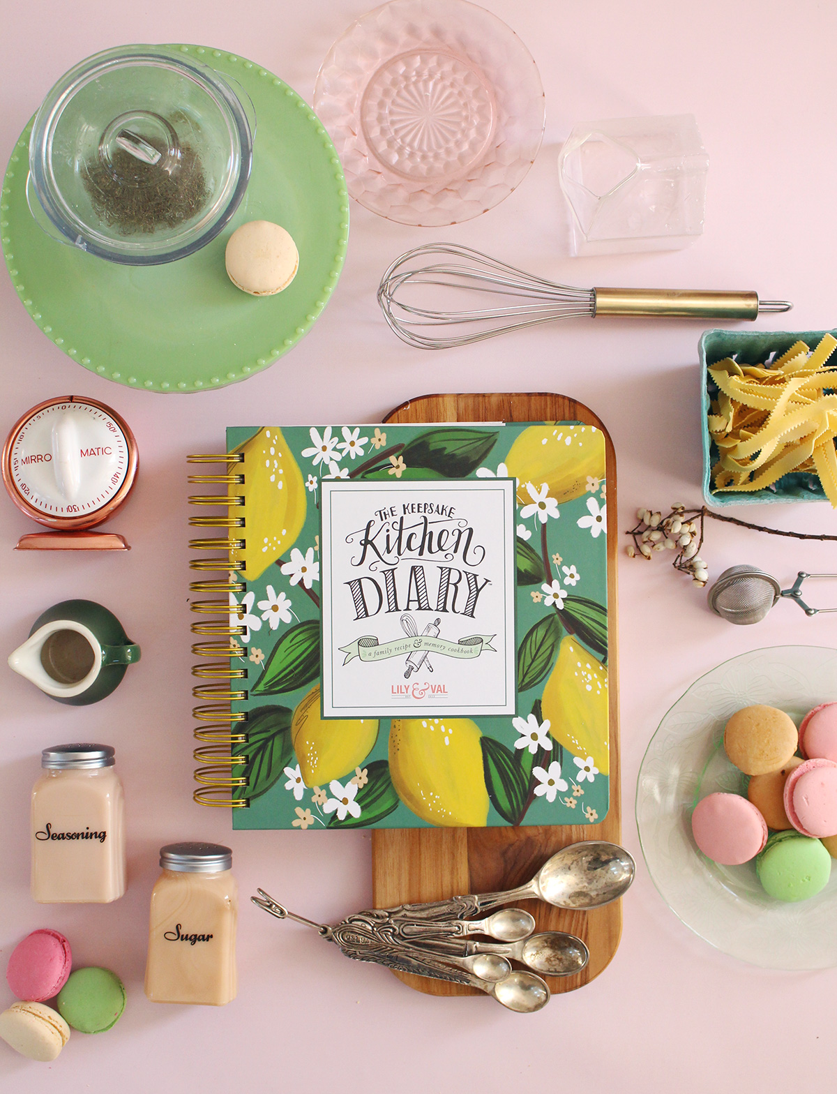 The Keepsake Kitchen Diary by Lily & Val is a one-of-a-kind family cookbook because we've made room for what makes the recipes special: The memories and stories that go with them!