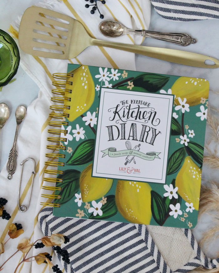 NEW Keepsake Kitchen Diary™ Cover Option – Whimsical Lemons!