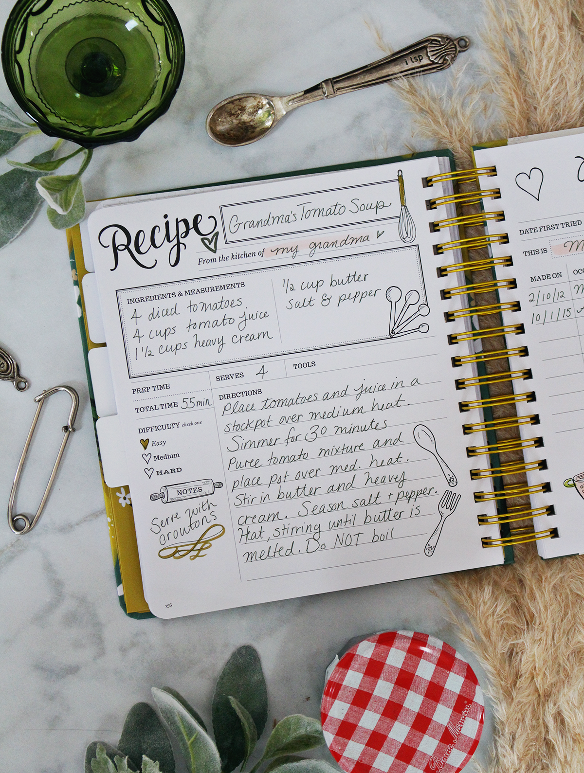 Nothing beats a handwritten recipe. The Keepsake Kitchen Diary by Lily & Val is a one-of-a-kind family cookbook because we've made room for what makes the recipes special: The memories and stories that go with them!