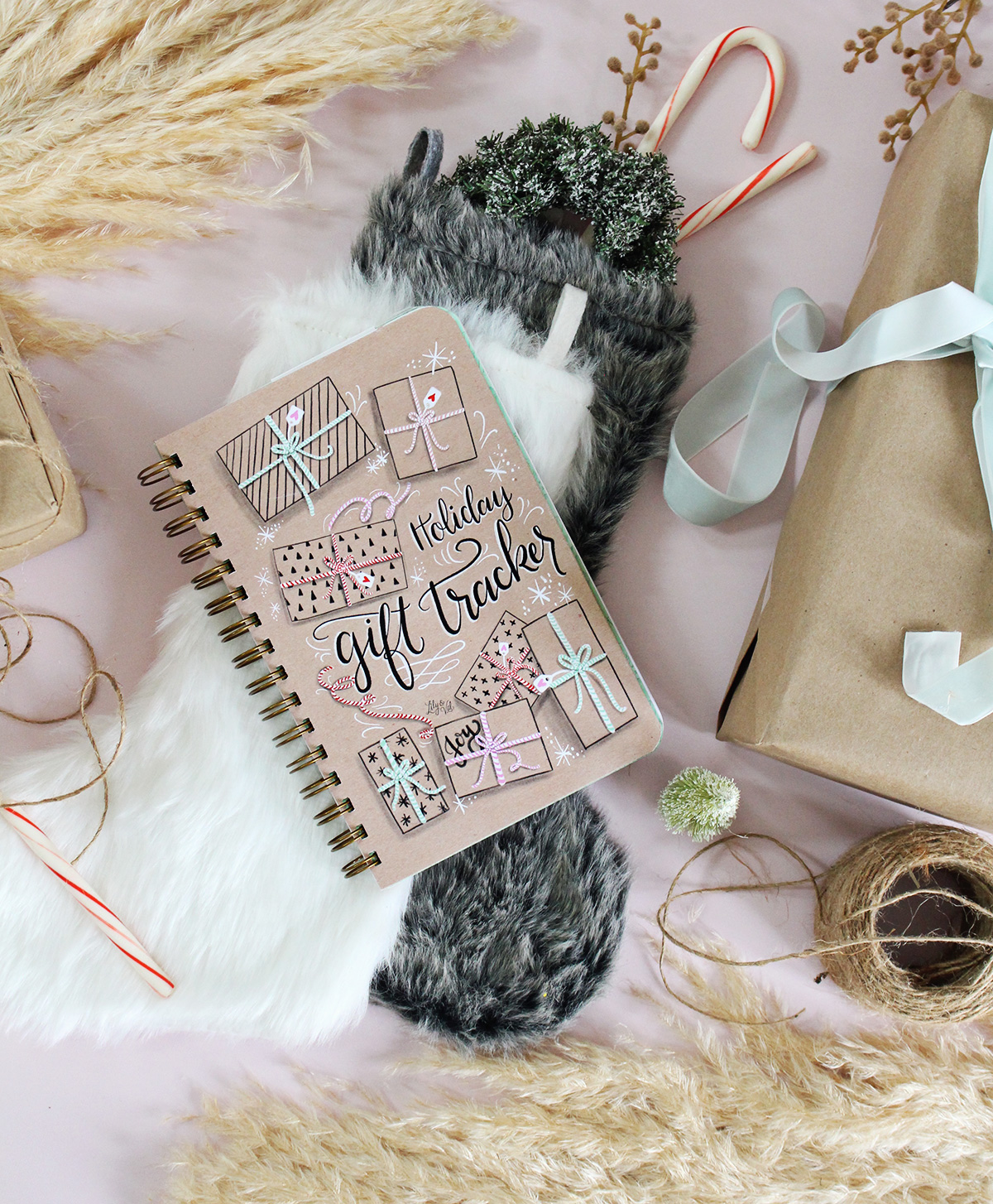 The Holiday Gift Organizer you could use this Christmas | Holiday Gift Tracker Notebook by Lily & Val