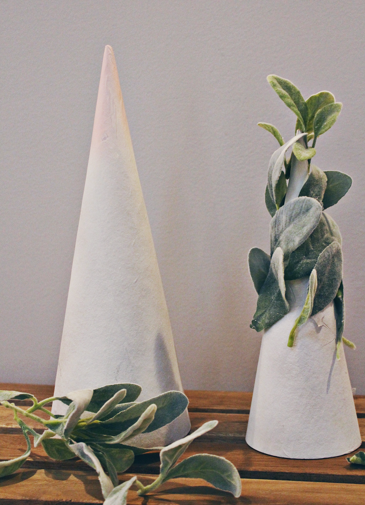 DIY Lamb's Ear Holiday Trees | Easy Holiday Decorating Idea