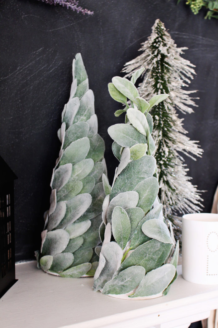 DIY Lamb's Ear Holiday Trees