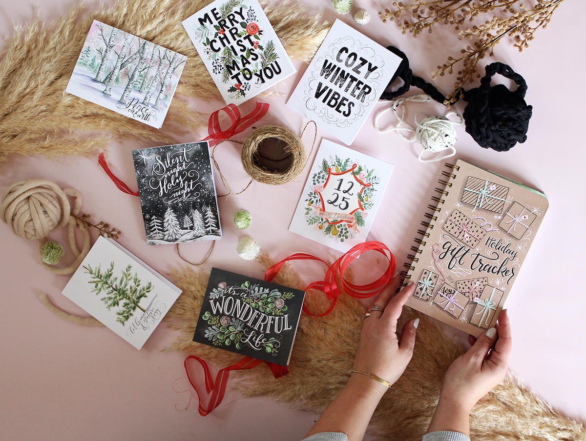 Get a jump start on your gift planner and card sending with the limited time Gift Tracker/ Card Set bundle on lilyandval.com