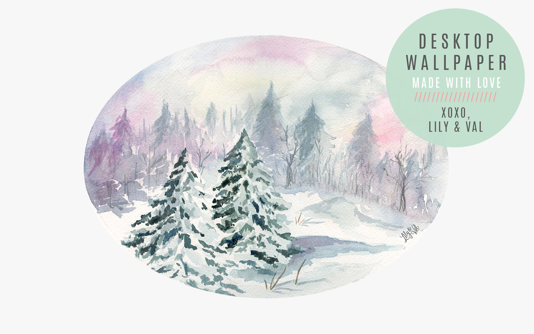 Free download with Winter forest desktop background