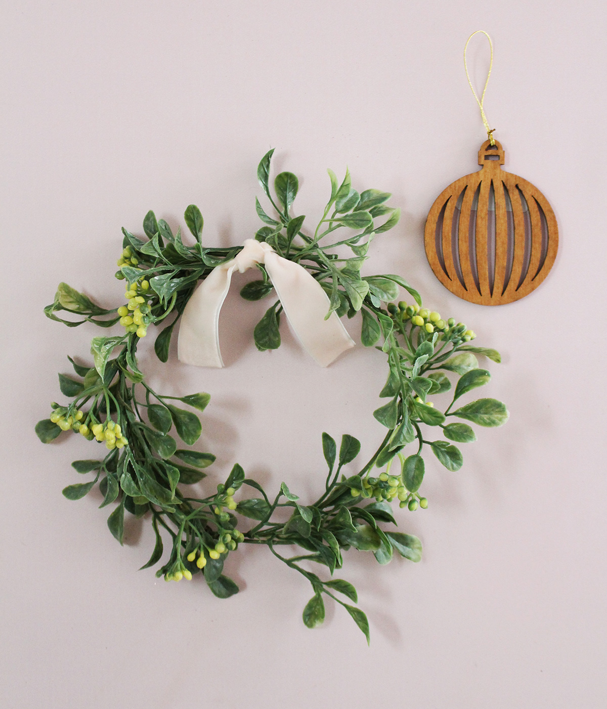 Handmade eucalyptus wreath as part of the first-ever Lily & Val curated surprise box!