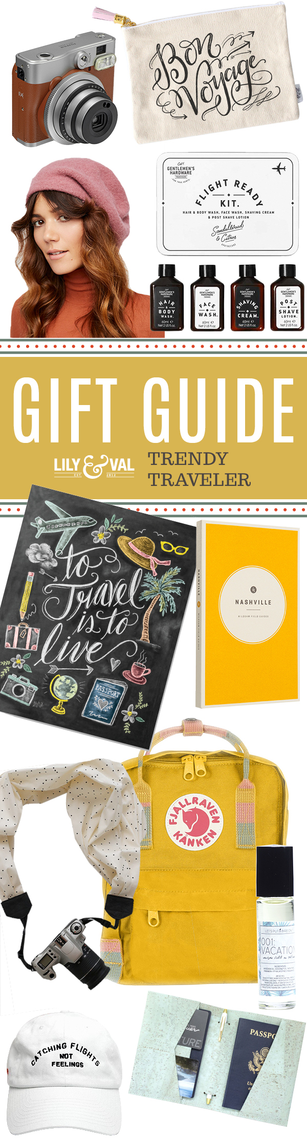 Lily & Val Gift Guide: Trendy Traveler