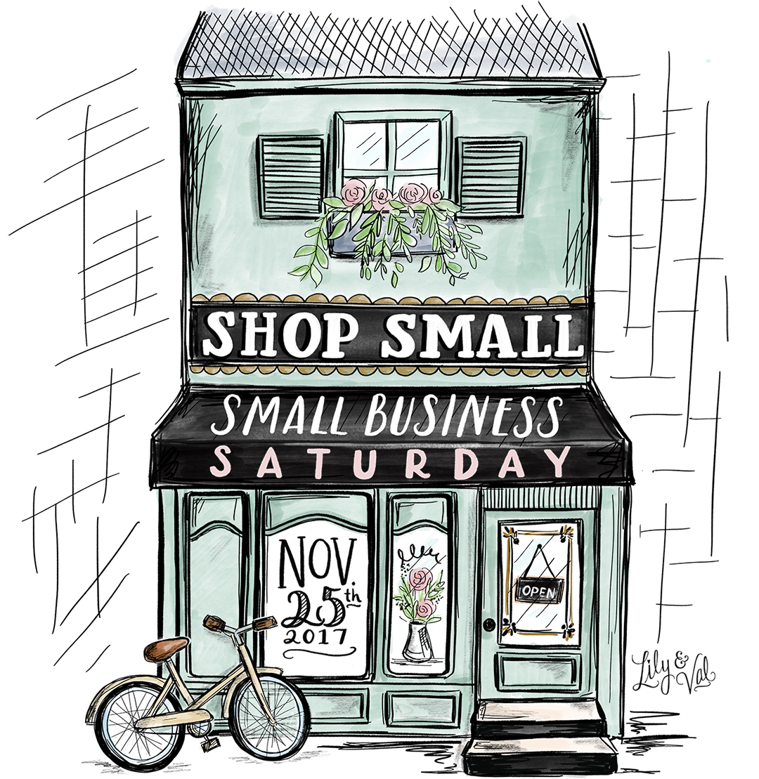 Free graphic for sharing the Small Business Saturday love this year!