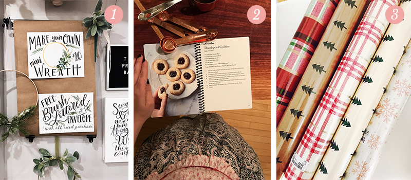 Lily & Val Presents: Pretty Ordinary Friday #80 with hand-drawn signs, Gluten-free and dairy-free thumbprint cookies and Home Goods wrapping paper