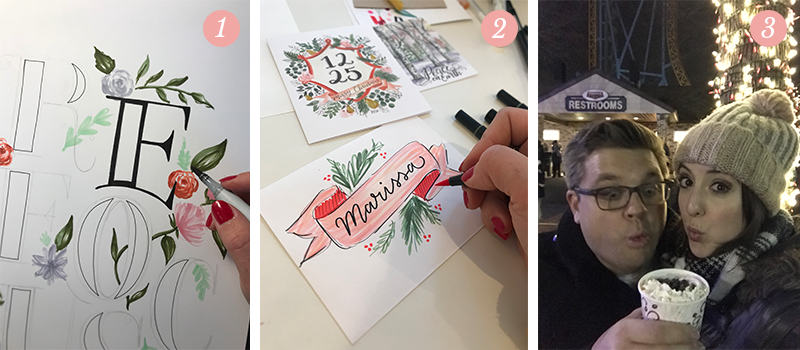 Lily & Val Presents: Pretty Ordinary Friday #81 with word of the year for 2018, hand-lettered holiday envelopes and hot chocolate in Hershey, PA