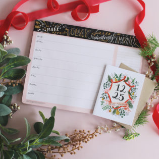 December Happy Mail Idea – Countdown to Christmas Deskpad