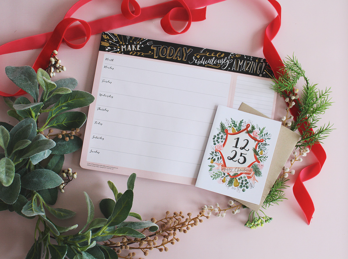 Our cute gold foil weekly planner pad would make a great gift for a friend or coworker