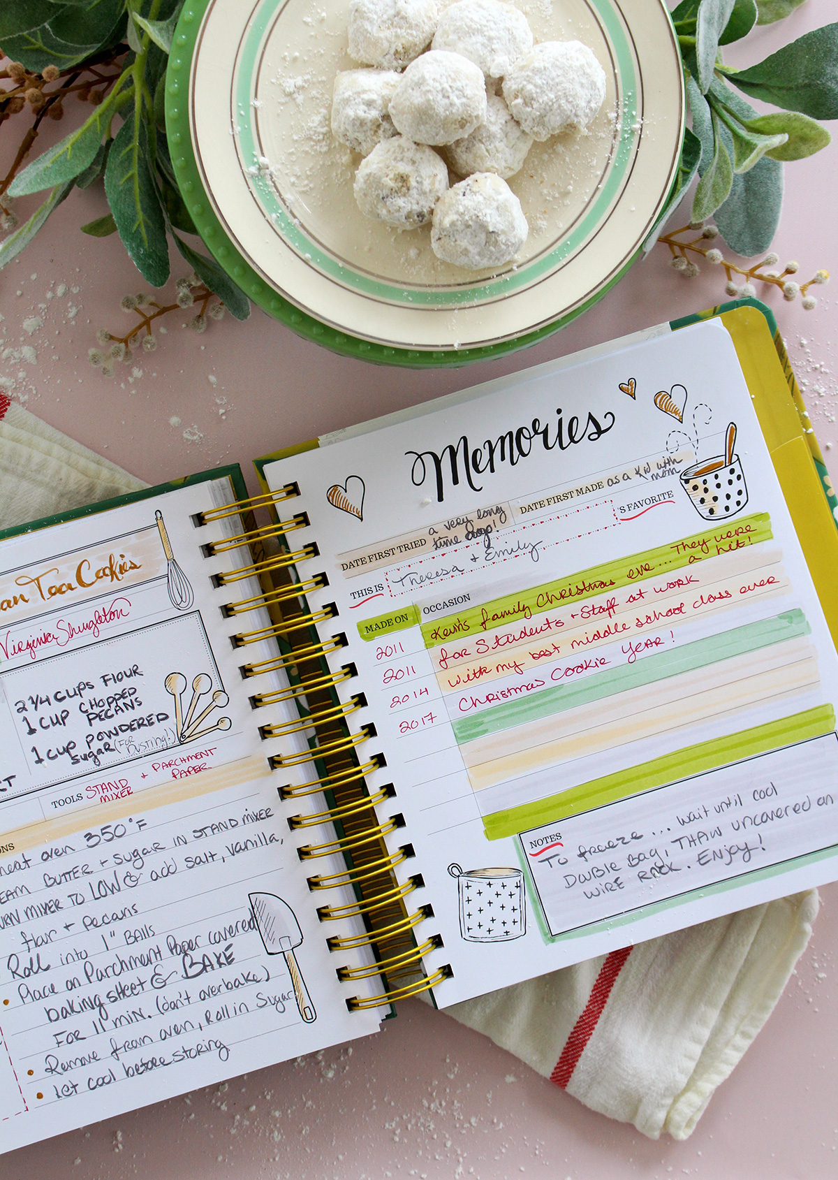 Russian Tea Cookie Recipe In The Keepsake Kitchen Diary - a family cookbook and memory keeper
